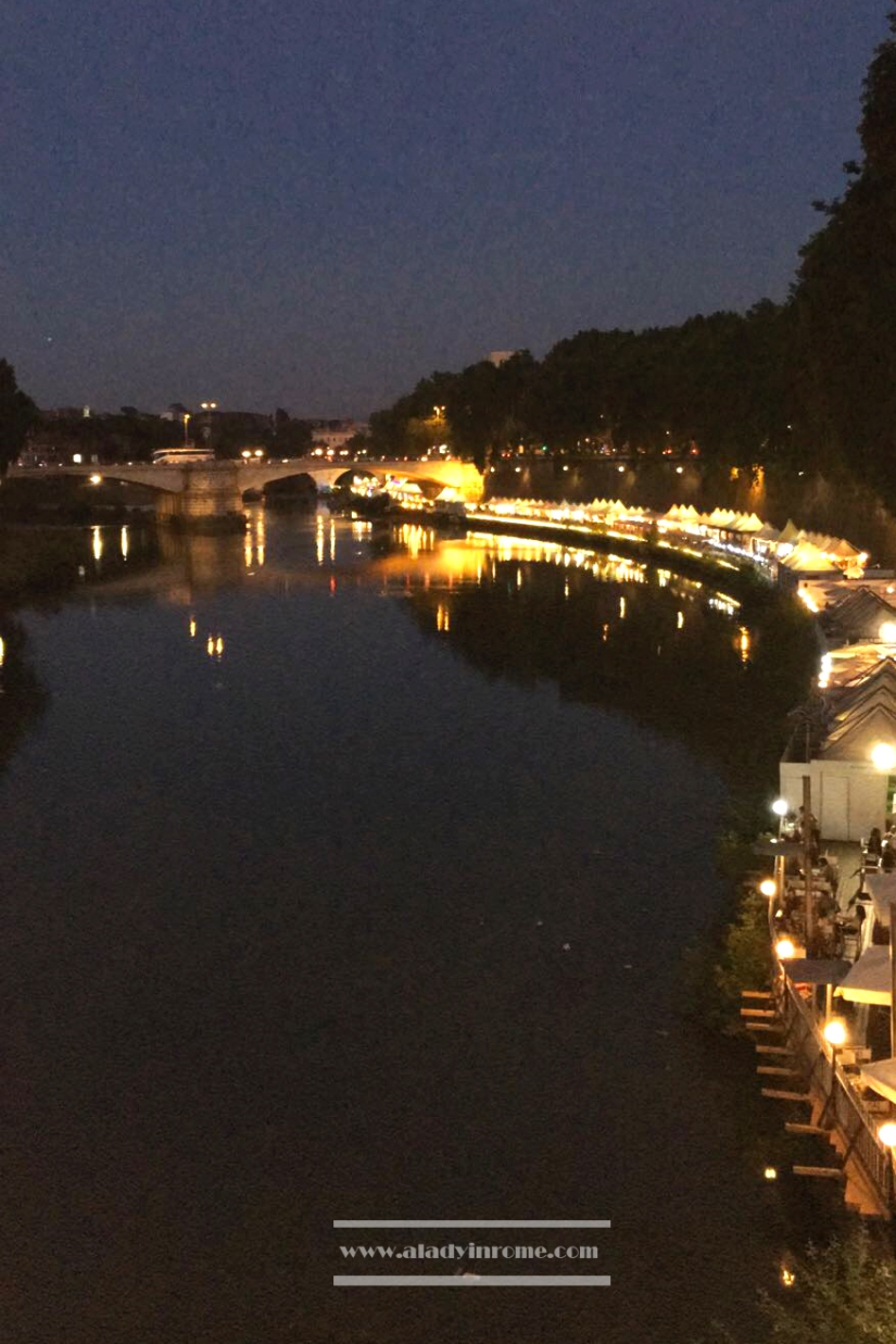 Tiber by night, Rome
